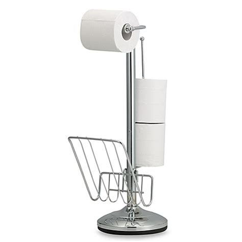 bathroom tissue holder stand toilet paper stand and reserve holder bed bath beyond