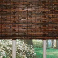 Lowes Bamboo Roman Shades - custom size now by levolor 36 in w x 72 in l mahogany light filtering