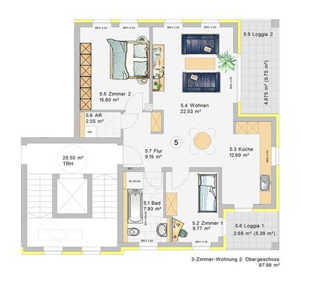 7 Zimmer Wohnung Grundriss by 3 Zimmer Wohnung Im 2 Obergeschoss W5 Klia Wohnpark