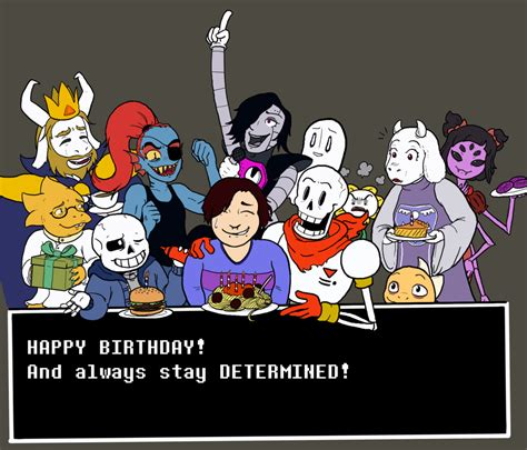 Undertale Birthday Card undertale themed birthday card by captainquestion on