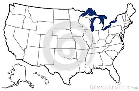 map of united states with great lakes outline map of united states royalty free stock