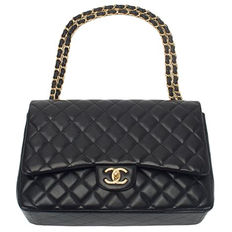 Channel Maxi chanel quilted lambskin maxi classic flap bag black world s best