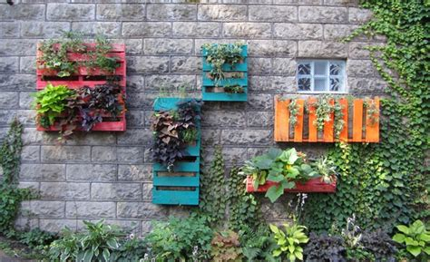 wooden pallet vertical garden easy vertical garden diy ideas for small spaces