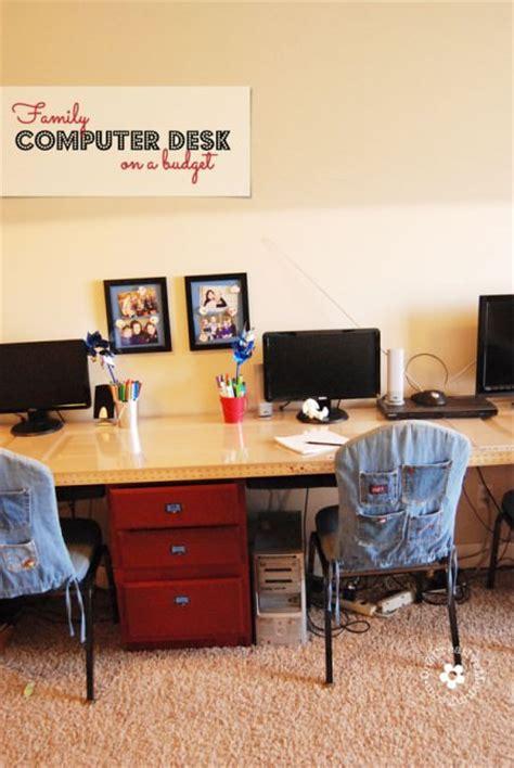 second computer desks diy computer desk station onecreativemommy