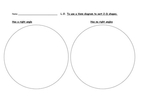 printable venn diagram ks1 sorting and classifying 2d shapes right angles by