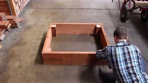 build  redwood raised garden bed youtube