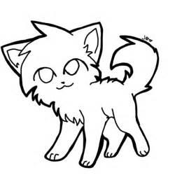 Chibi cat lineart by lilrobgrayson13 on deviantart