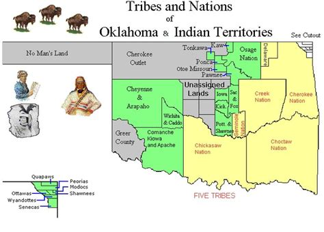 map of american tribes in oklahoma tribe indian reservation indian territory