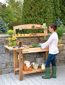cedar potting bench potting bench cedar potting table with soil sink and shelves