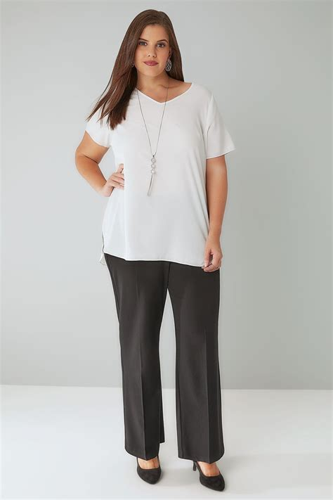Check Value Of Visa Gift Card - black classic straight leg trousers with elasticated waistband petite plus size 16 to 32