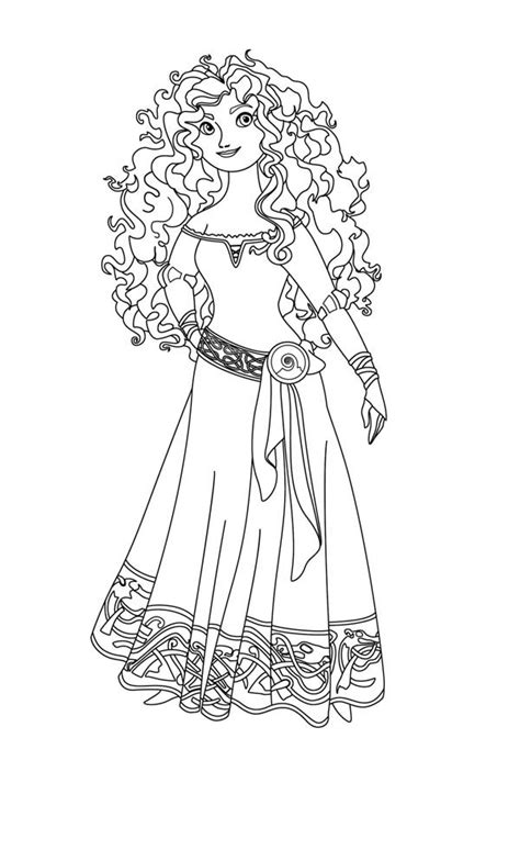 princess merida coloring page brave coloring pages best coloring pages for kids