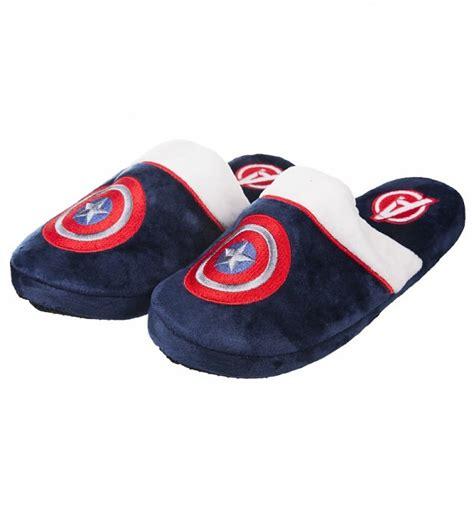 captain america slippers mens official s navy marvel comics captain america slip on