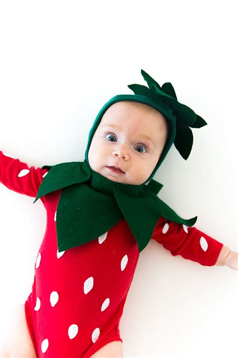 baby strawberry strawberry baby costume say yes