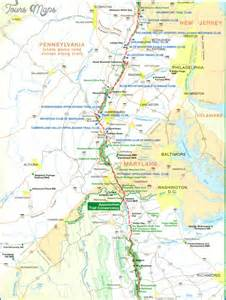 Appalachian Trail Sections by Appalachian Trail Map Virginia Toursmaps