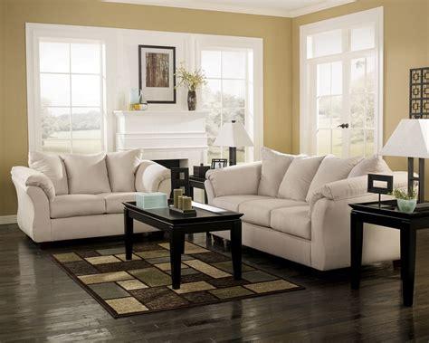 ashley darcy loveseat ashley furniture living spaces darcy stone sofa loveseat