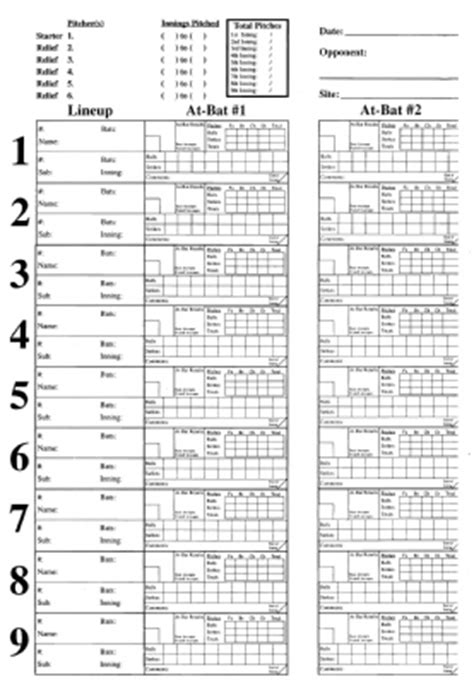 baseball pitching chart template hover photo to enlarge