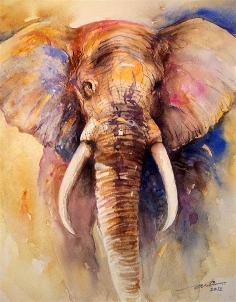 painting elephant arti s as i see it shades of gray