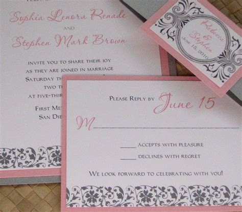 grey and pink wedding invitation cards formidable pink and grey wedding invitations theruntime