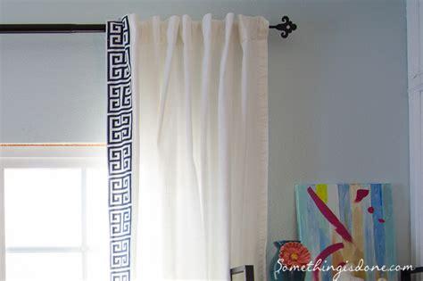 greek key trim curtains diy greek key trim curtains