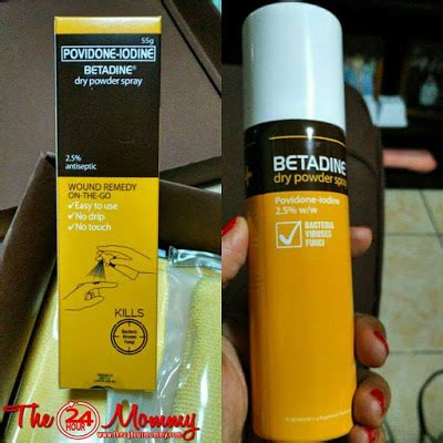 Betadine Powder Spray the 24 hour betadine powder spray for