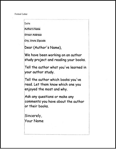 templates for authors letter to the author exle best letter sle