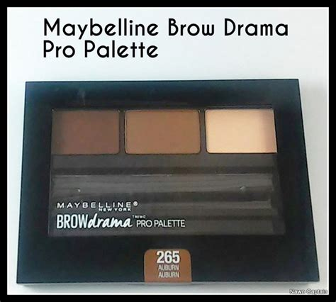 Maybelline Eyebrow Palette new maybelline brow drama pro palette shown in auburn 265 includes a sculpting wax