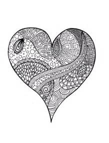 coloring pages for adults hearts zentangle colouring page a zentangle with no