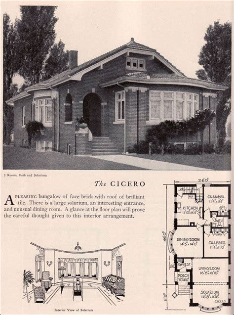 chicago bungalow floor plans home builders catalog 1929 cicero american residential