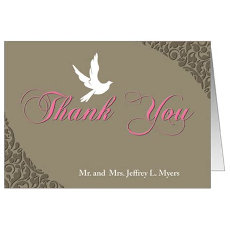 confirmation thank you card template white dove communion thank you card