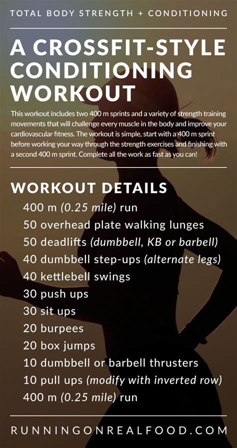 a crossfit style conditioning wod for total strength