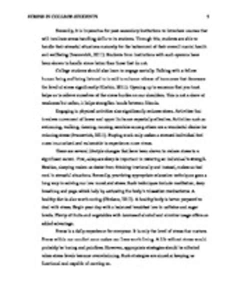 Essay On Stress by Solution Stress Management Essay Studypool