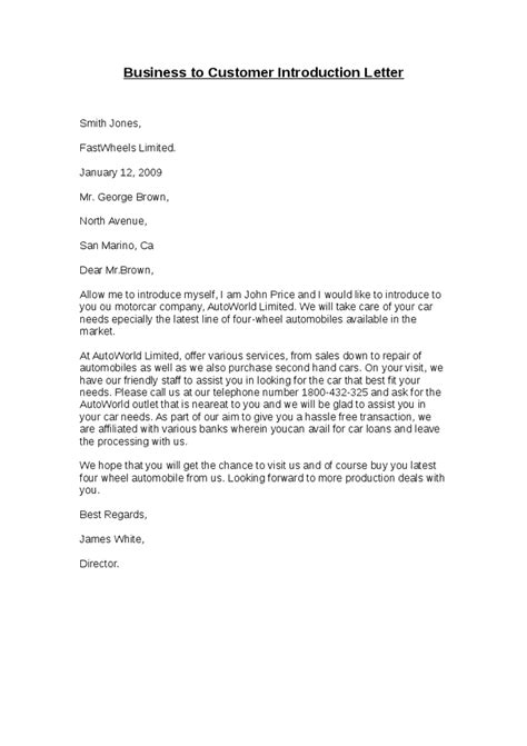 Introduction Letter For Business Services letter to introduce business sle sle business letter