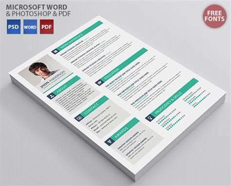 creative cv template free docx creative resume template free psd files graphic web