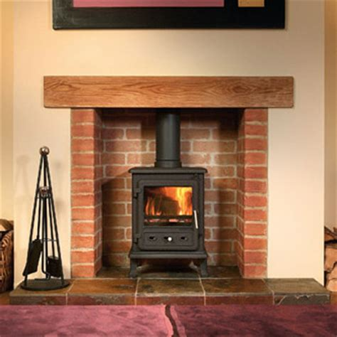 Brick Fireplaces For Wood Burning Stoves by Brick Fireplace With Plaster Surround Fireplaces