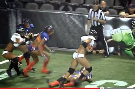 tremendous lfl hit sends opposition to the ground for
