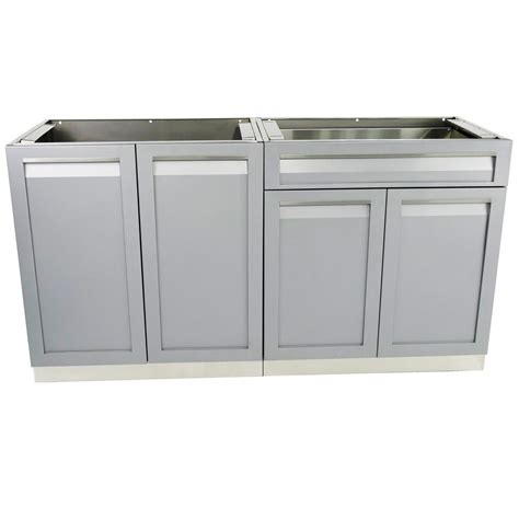 outdoor kitchen stainless doors and drawers 4 life outdoor stainless steel 2 piece 64x35x22 5 in