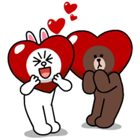 Kaos Line Emoticon Cony 1 Oceanseven 熊大 兔兔 心動約會篇 line 官方貼圖