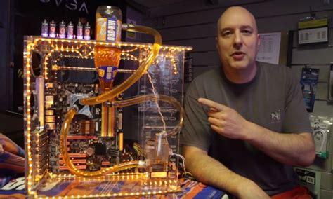scottish man creates  irn bru water cooling system