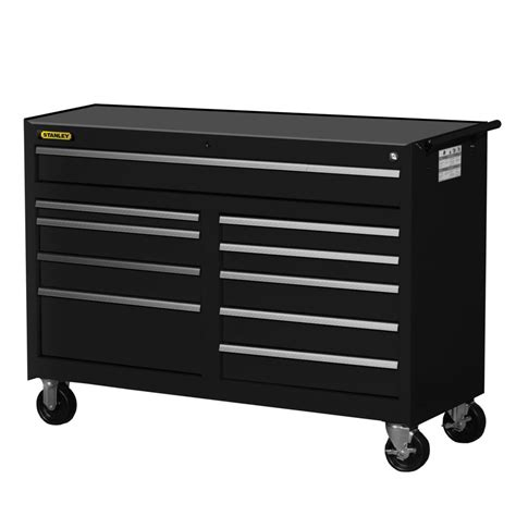 The Drawer Depot by Stanley 54 Inch 10 Drawer Cabinet Black The Home Depot