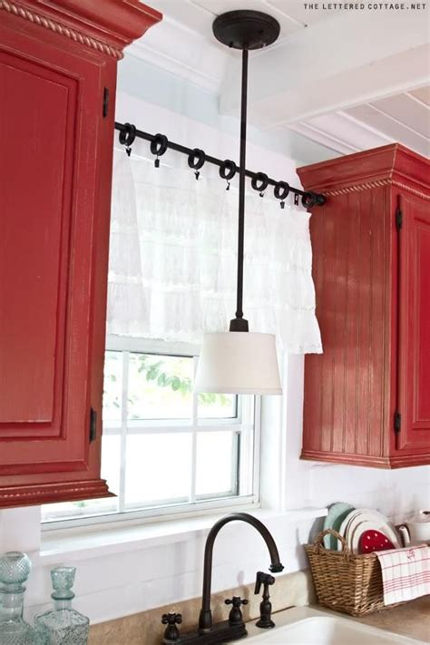 how low should curtains hang make a quick and easy window valance kitchen window