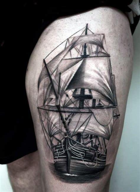 boat outline tattoo ship outline tattoo for leg