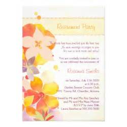 retirement quotes for invitations watercolor flowers retirement invites 5 quot x 7