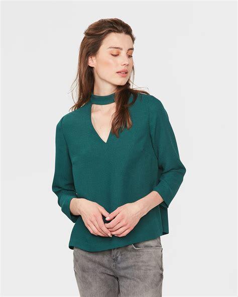 Blouse V v neck blouse 80090618 we fashion