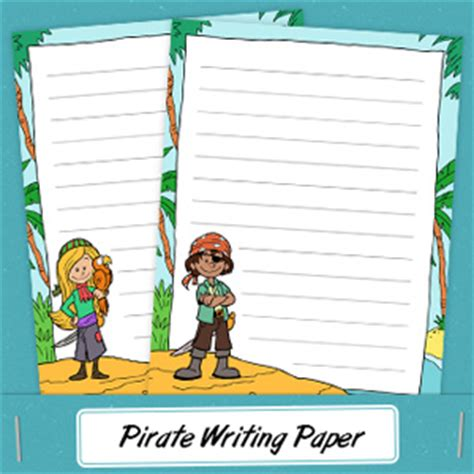 pirate writing paper tim de vall comics printables for