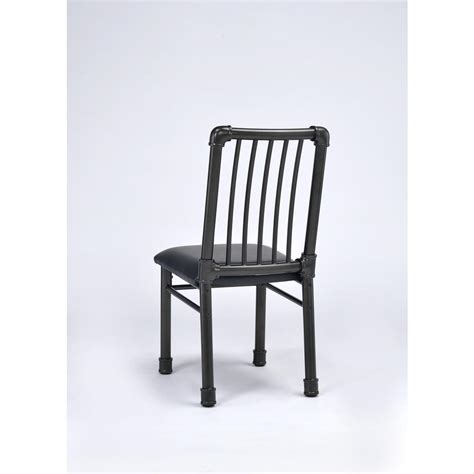 White Metal Dining Chair Amerihome White Metal Dining Chair Set Of 2 Bs3530wset The Home Depot