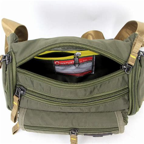 New Travel Check Waist Bag Tas Pinggang Traveling new tactical running black green travel sport pack waist bag belt bag pouch for