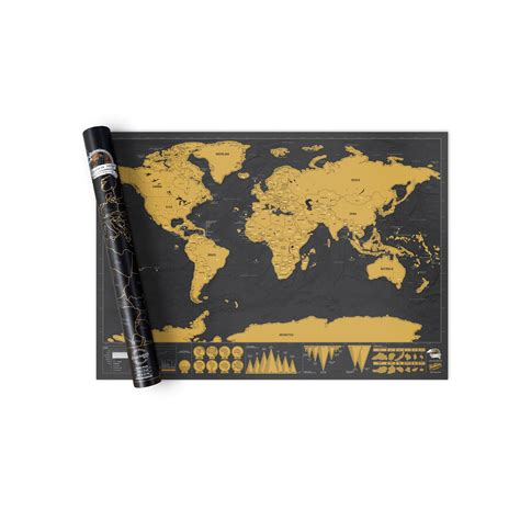 scratch map scratch map 174 deluxe world map poster