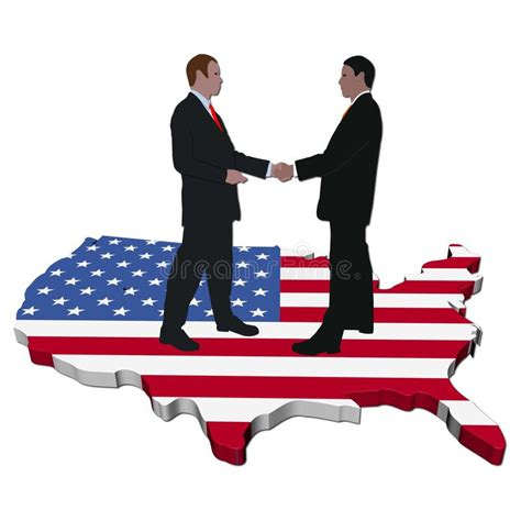Mba In E Business In Usa by American Business Meeting Stock Illustration Illustration