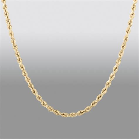 "10k Yellow Gold 20"""" Rope Chain   Shop Your Way: Online Shopping & Earn Points on Tools"