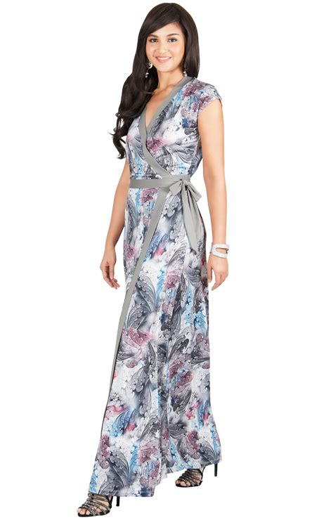 More Maxi Dresses Are You Bored Yet by Womens Cap Sleeve Maxi Dress Floral Gown